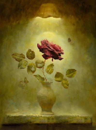 Rose oil paintings