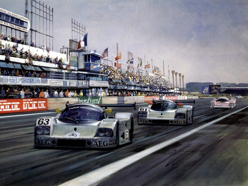 Racing Car Oil Paintings 010