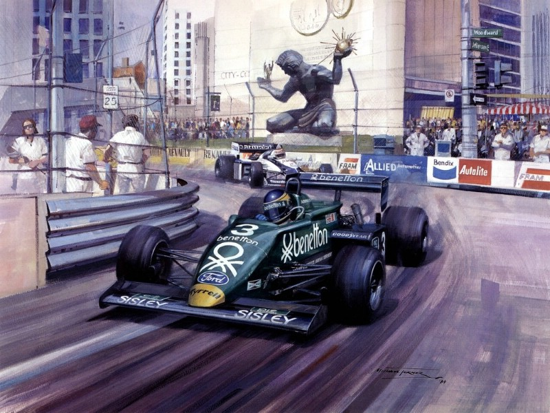 Racing Car Oil Paintings 011