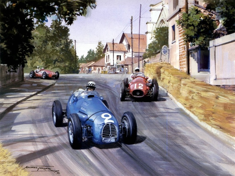 Racing Car Oil Paintings 014