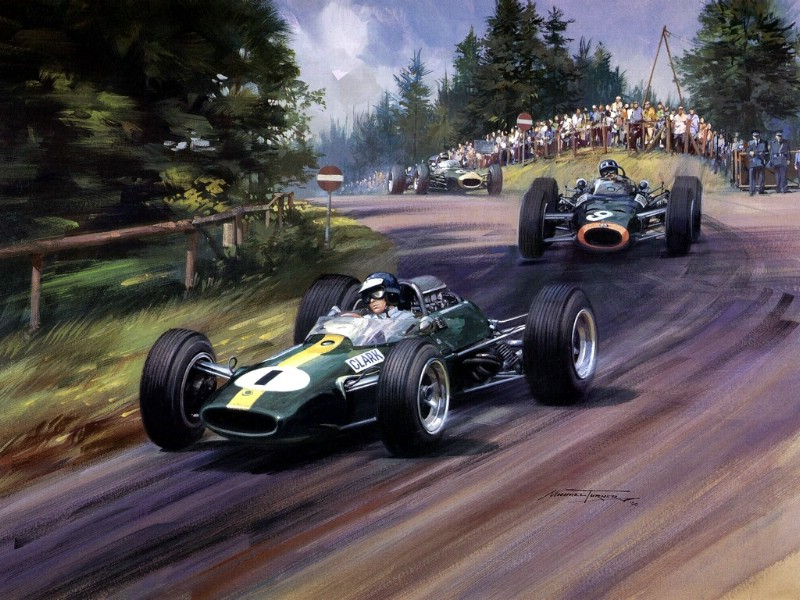 Racing Car Oil Paintings 016