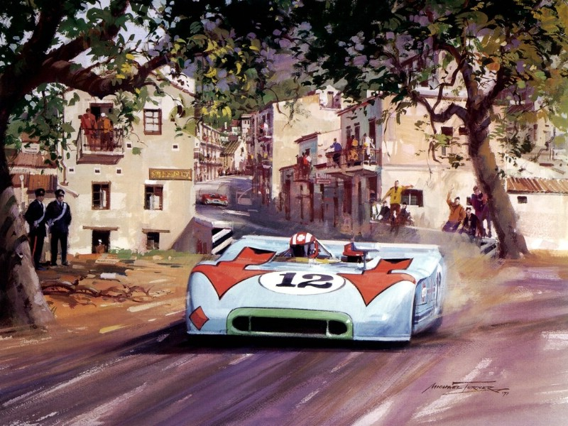 Racing Car Oil Paintings 017
