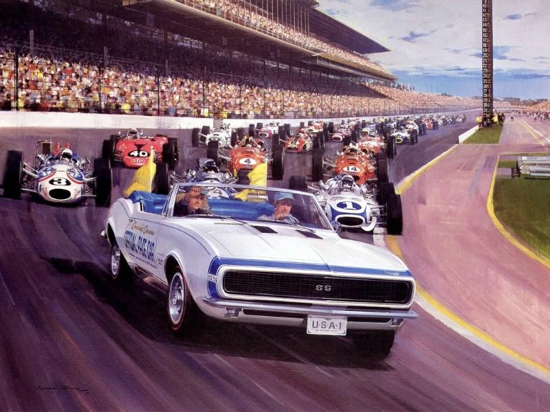 Racing Car Oil Paintings 018
