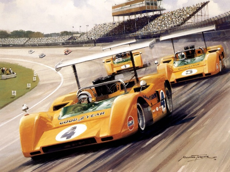 Racing Car Oil Paintings 020