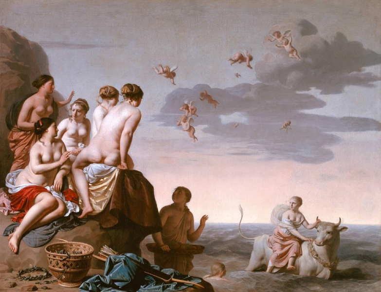 Rape of Europa by Caesar van Everdingen