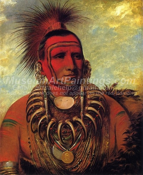 Red Indians Paintings Little Wolf A Famos Warrior