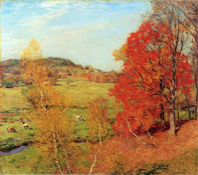 Red Maple by Willard Leroy Metcalf