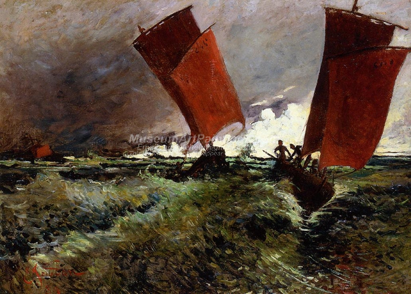 Red Sails by Emile Jourdan