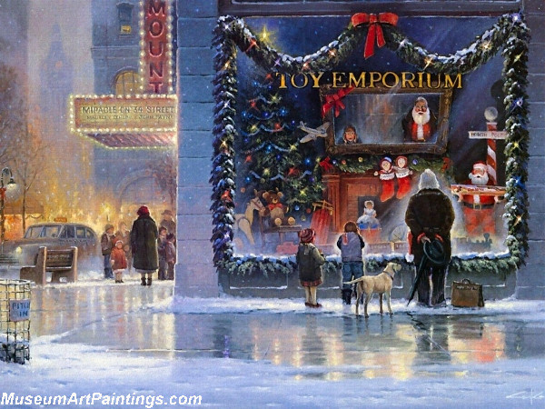 Reflections Of Christmas Painting