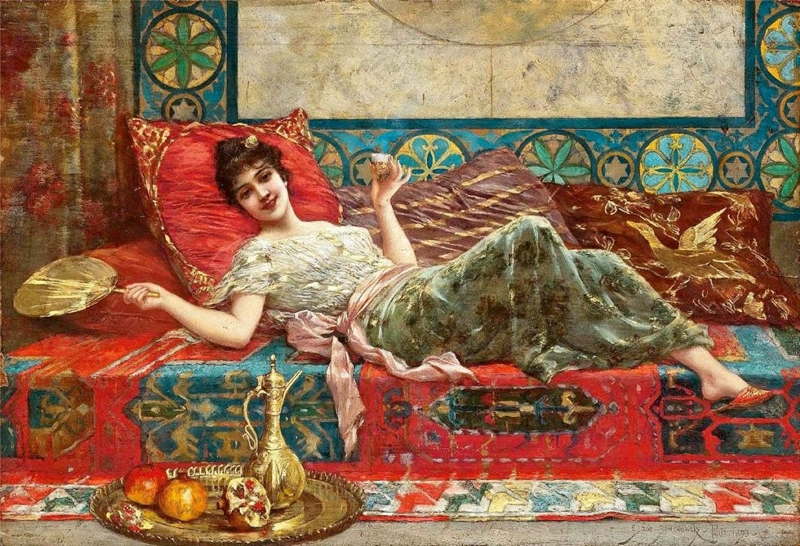 Refreshments in the Harem by Emile Eisman Semenowsky