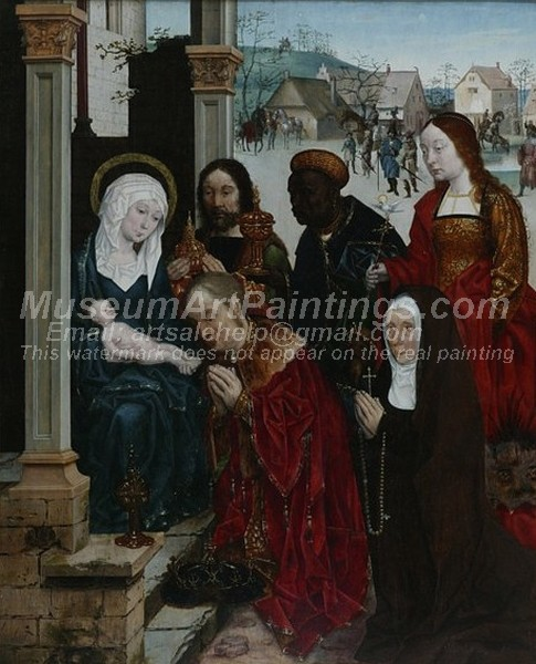Religious Paintings The Adoration of the Magi with St Margaret and a Nun