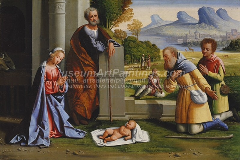 Religious Paintings The Adoration of the Shepherds