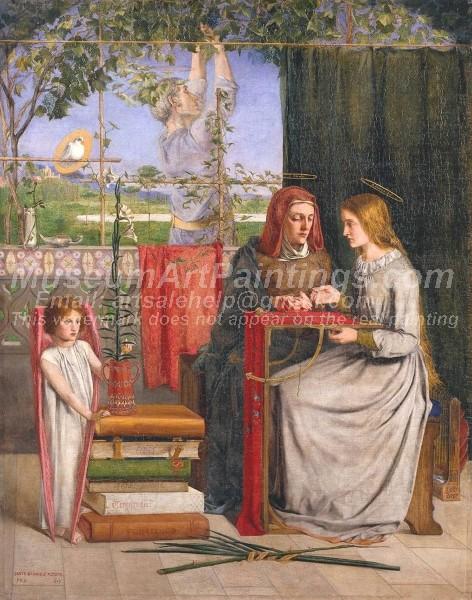 Religious Paintings The Girlhood of Mary Virgin
