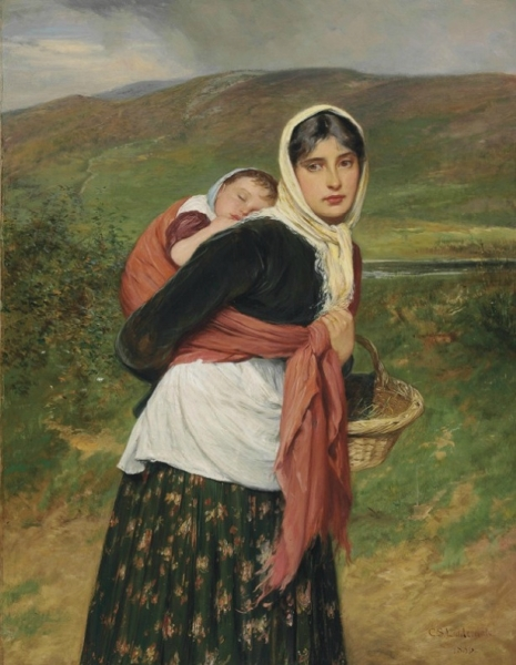 Returning from Market by Charles Sillem Lidderdale