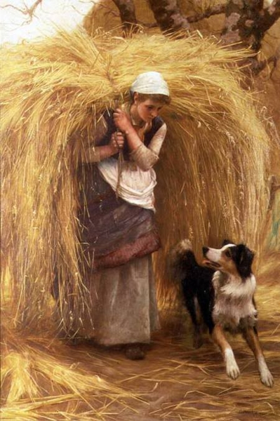 Returning from the Hayfield by Arthur Hacker