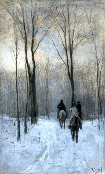 Riders in the Snow by Anton Mauve