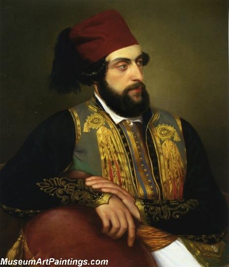 Ritratto Maschile in Costume Greco by Felice Schiavoni