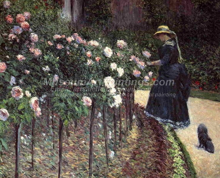 Roses Garden at Petit Gennevilliers Painting