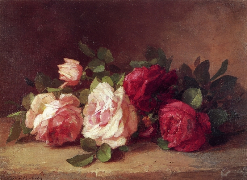 Roses Oil Painting by Anna Eliza Hardy