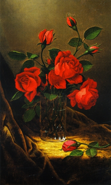 Roses by Martin Johnson Heade