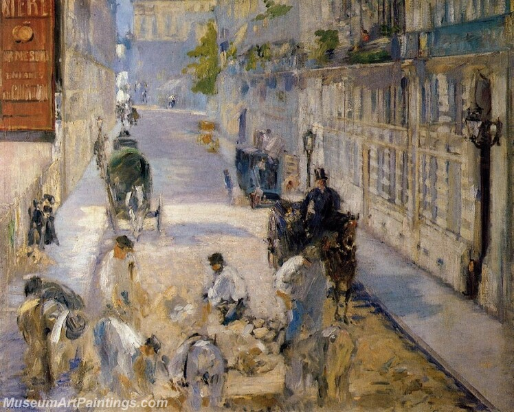 Rue Mosnier with Road Menders Painting