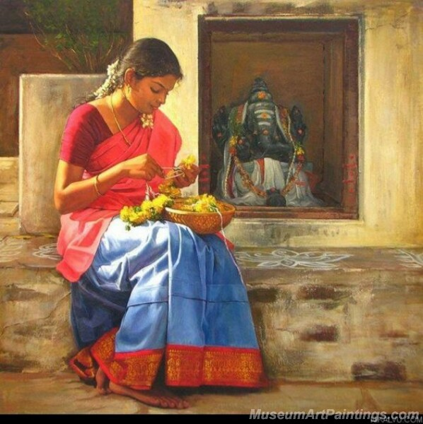 Rural Indian Women Paintings 051