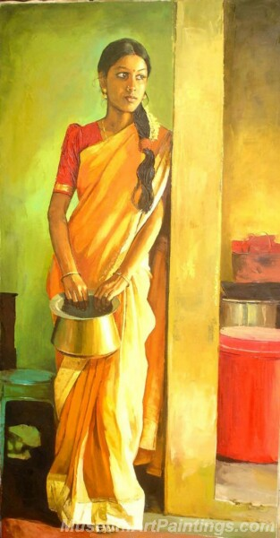 Rural Indian Women Paintings 057