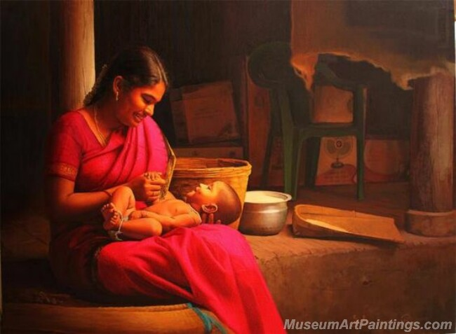 Rural Indian Women Paintings 062