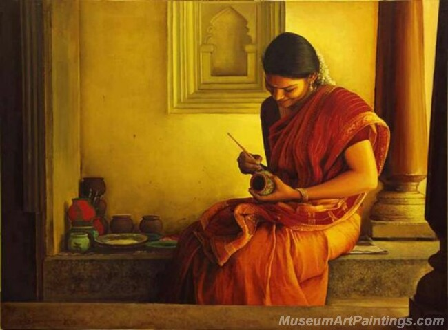 Rural Indian Women Paintings 066