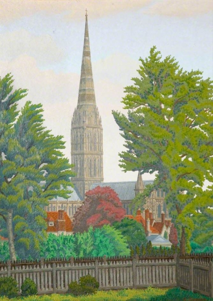 Salisbury Cathedral by Charles Ginner