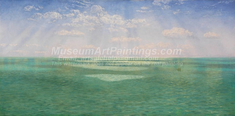 Seascape Paintings The British Channel Seen from the Dorsetshire Cliffs
