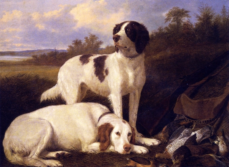Setters at Rest by Thomas Hewes Hinckley