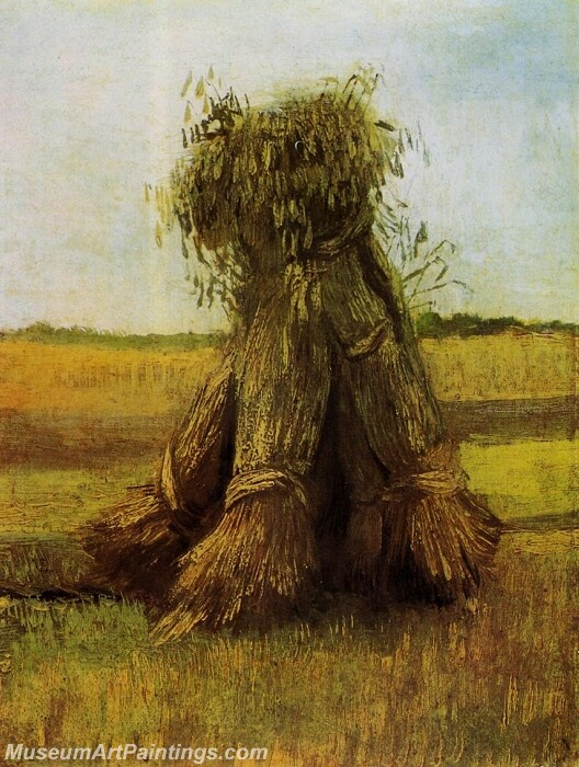 Sheaves of Wheat in a Field Painting