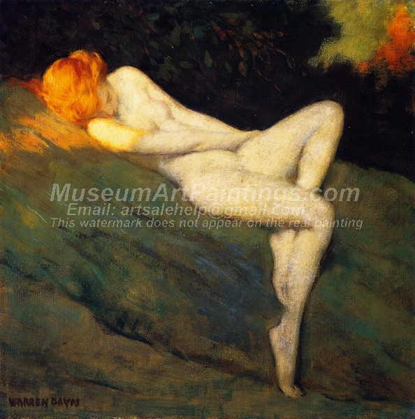 Sleeping Nude by Warren B Davis