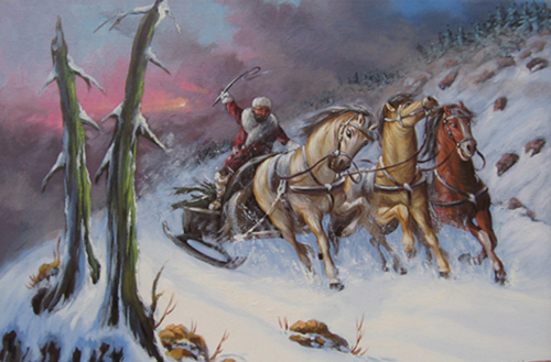 Snow Scene Paintings 001
