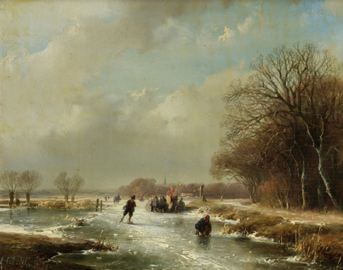 Snow Scene Paintings 002