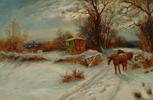 Snow Scene Paintings 003