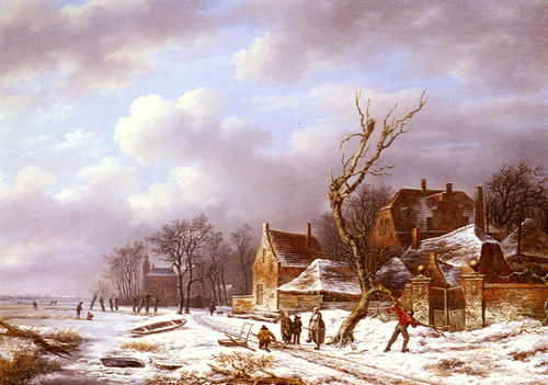 Snow Scene Paintings 005