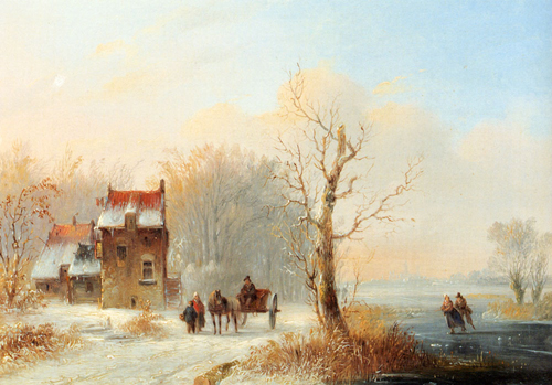 Snow Scene Paintings 006
