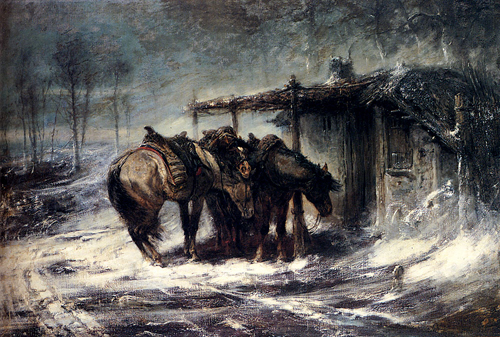 Snow Scene Paintings 007