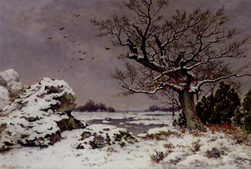 Snow Scene Paintings 008
