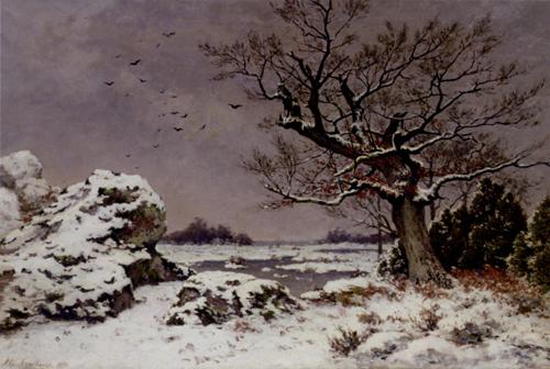 Snow Scene Paintings 008