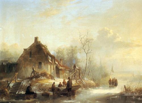 Snow Scene Paintings 009
