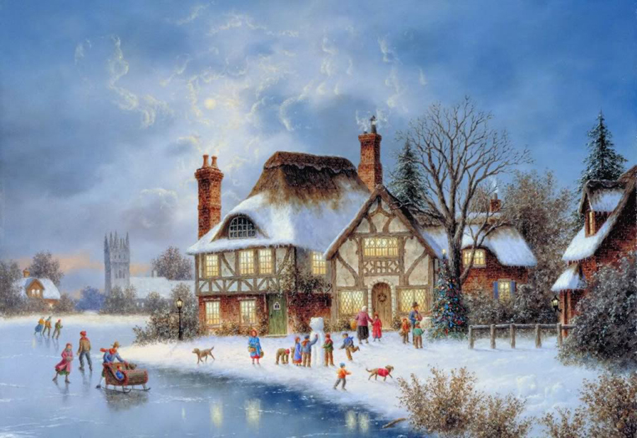 Snow Scene Paintings 010