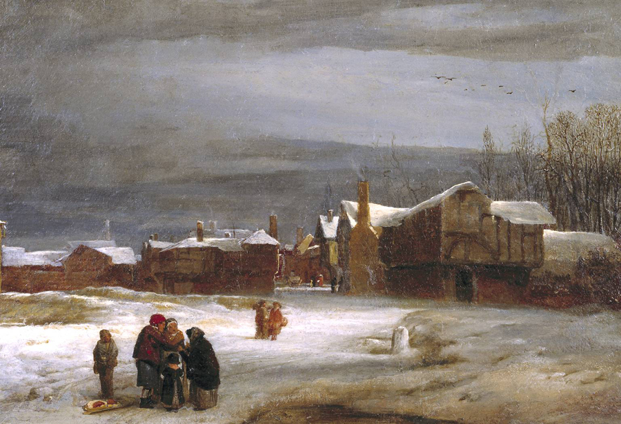 Snow Scene Paintings 012