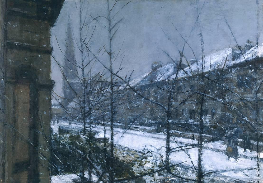 Snow Scene Paintings 017
