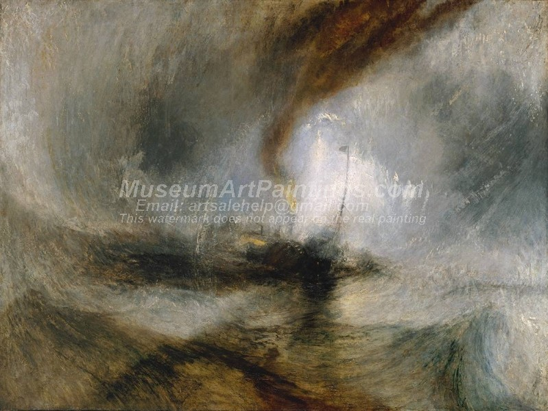 Snow Storm Steam Boat off a Harbour's Mouth Painting by Joseph Mallord William Turner
