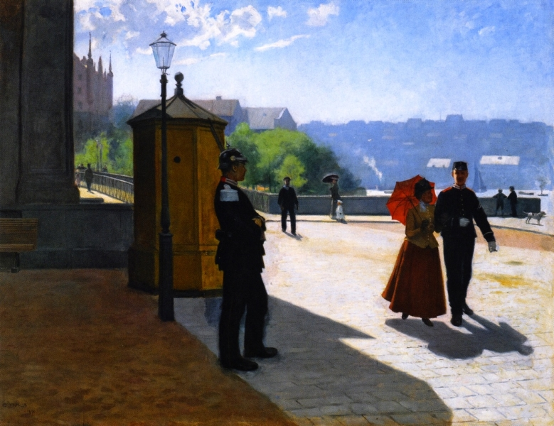 Soldiers Outside the Nationalmuseum Stockholm Carl Hadelin