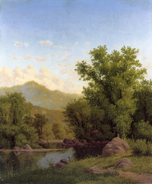 Spring Landscape along a River by Charles Harry Eaton