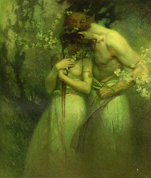 Spring Night by Alphons Maria Mucha